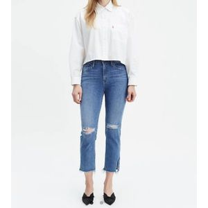 Levi's 724 High-Rise Straight Crop Denim Size 31